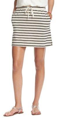 LOFT Striped Drawstring Knit Skirt