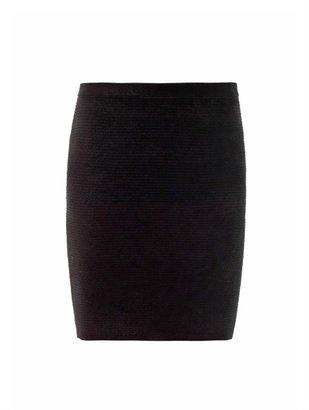 Alexander Wang Textured stripe-knit skirt