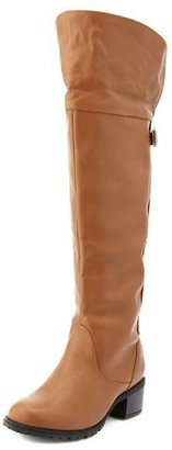 Charlotte Russe Stud-Back Thigh-High Boot