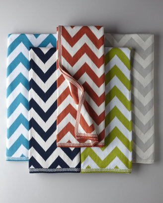 Horchow Chevron-Patterned Knit Throw