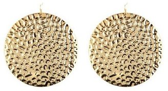 Charlotte Russe Oversized Hammered Disk Earrings