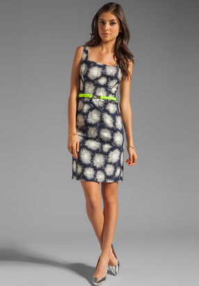 Milly Aster Print Belted Sydie Dress