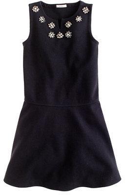 J.Crew Girls' jeweled flare dress
