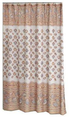 South Beach Carnation Home Fashions 6-Feet by 6-Feet Fabric Shower Curtain, Ivory