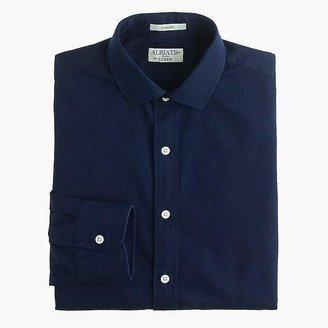 Albiate 1830 for J.Crew Ludlow spread-collar shirt in indigo Italian cotton $168 thestylecure.com