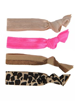 Glam Bands Pink/Leopard Hair Ties