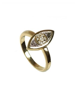 House Of Harlow Vertical Evil Eye Stackable Ring