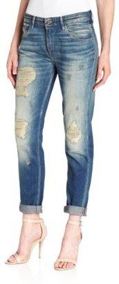 Twenty8Twelve Women's Jamois Boyfriend Destructed Jeans in Denim