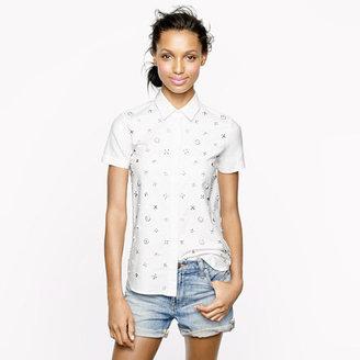 J.Crew Collection beaded shirt