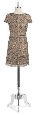 Adrianna Papell Beaded Shift Dress