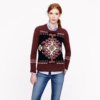 J.Crew Collection silk-embroidered cashmere sweater