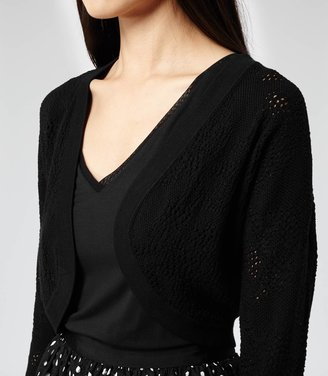 Reiss Susie POINTELLE KNIT COVER-UP