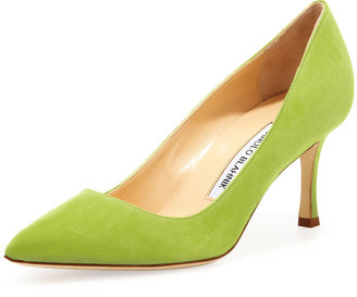 Manolo Blahnik BB Suede 70mm Pump, Cocorita