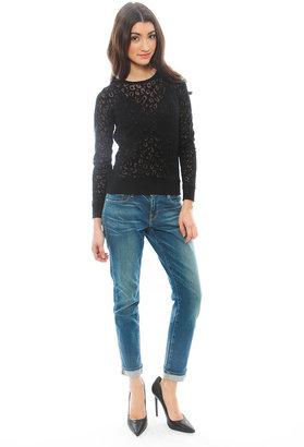 Generation Love Louisa Sheer Leopard Sweater