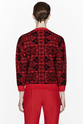 Alexander McQueen Red Stained Glass Crewneck