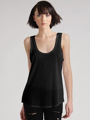 James Perse Scoop-Back Tunic Tank