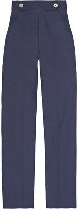 Yves Saint Laurent Cotton-canvas wide-leg pants