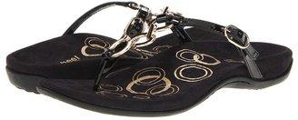 Orthaheel Anna Toe Post (Black) - Footwear
