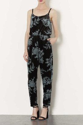 Topshop Floral Glitter Jumpsuit