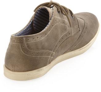 Ben Sherman Nick Suede Wing-Tip Sneaker, Stone
