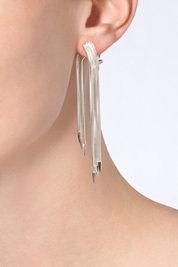 Lynn Ban Sterling Silver Snake Chain Earrings