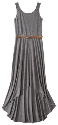 Xhilaration Junior's Belted High Low Maxi Dress