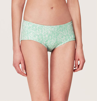LOFT Beach Vintage Fan Print Boy Short Bikini Bottom