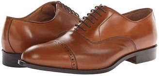 Massimo Matteo 6-Eye Bal Cap Toe (Black) Men's Lace Up Cap Toe Shoes