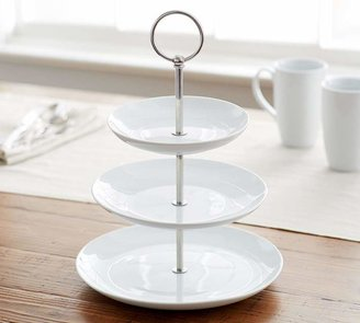 Pottery Barn Great White Porcelain Tiered Stand