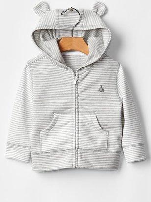 Gap Favorite stripe bear hoodie