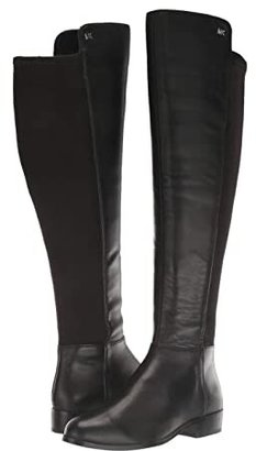 MICHAEL Michael Kors Bromley Flat Boot (Black Nappa/Sensitive Stretch) Women's Zip Boots