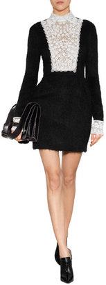 Valentino Mink Fur/Lizard Clutch in Black