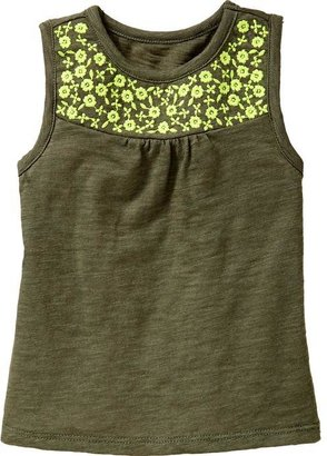 Old Navy Floral-Embroidered Jersey Tanks for Baby