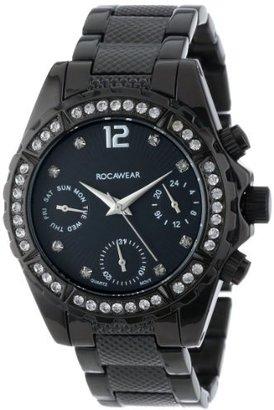 Rocawear Women's RL0121BK1-010 Stylish Bracelet Enamel Bezel Watch $85 thestylecure.com