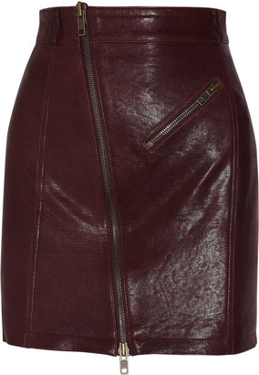 McQ by Alexander McQueen Leather mini skirt