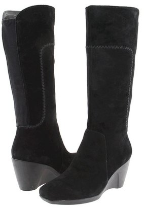 Naturalizer Motive Regular Shaft (Black Suede) - Footwear