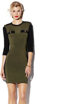 Vince Camuto Military Sweater Dress