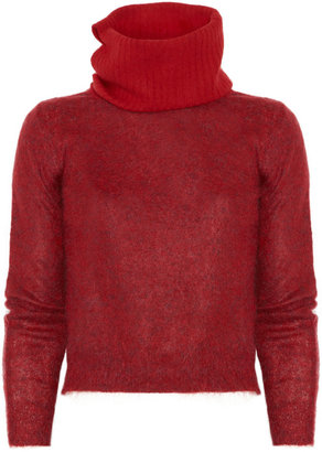 Maison Martin Margiela Funnel neck mélange wool-blend sweater