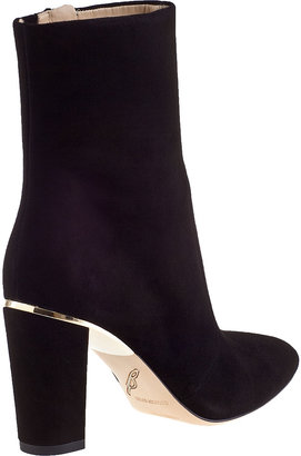 Brian Atwood Christelle Ankle Boot Black Suede