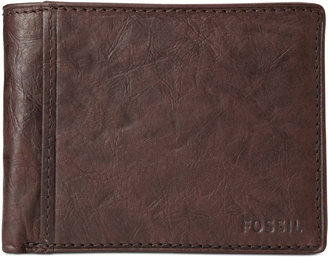 Fossil Ingram International Flip Bifold With Coin Pocket Leather Wallet $55 thestylecure.com