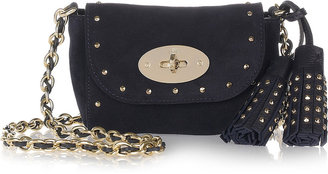 Mulberry Mini Lily studded suede shoulder bag