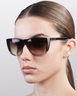 Marc Jacobs Oversized Ombre Sunglasses, Brown/Nude