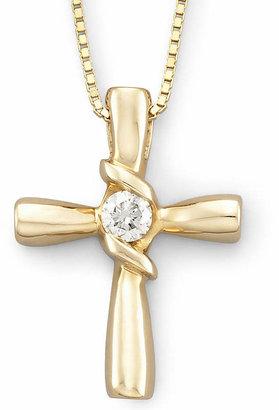 Sirena 1/10 CT. T.W. Diamond Cross Pendant 14K Gold Necklace