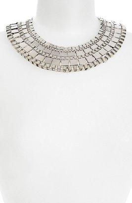 Topshop Chunky Box Collar Necklace Silver