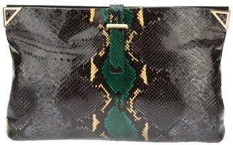Emporio Armani snake skin print clutch