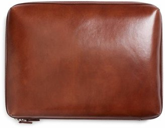Brooks Brothers Burnished Leather Document Case