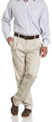 Nautica Men's True Khaki Pleated Front Cuffed Pant