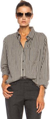 Etoile Isabel Marant Waida Striped Cotton Shirt in Grey