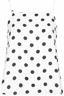 Topshop Spot double layer cami