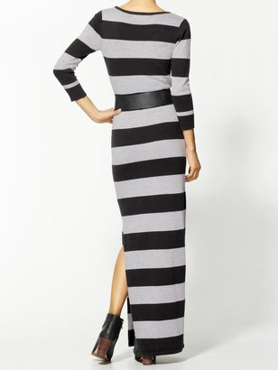 Pim + Larkin Rugby Stripe Sweater Maxi